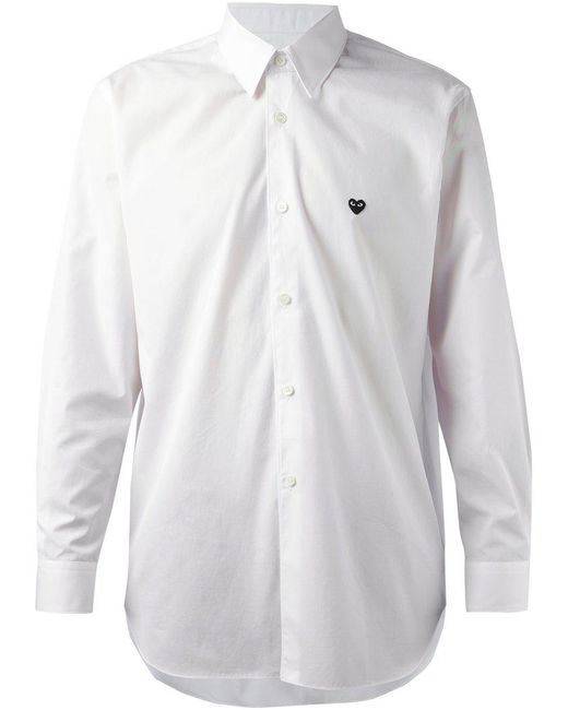 Play Comme des Garçons | White Play Shirt Black Heart for Men | Lyst