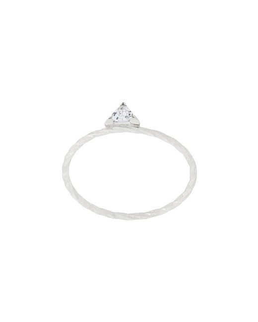 Maria Black - Metallic Diamond Cut Viper Ring - Lyst
