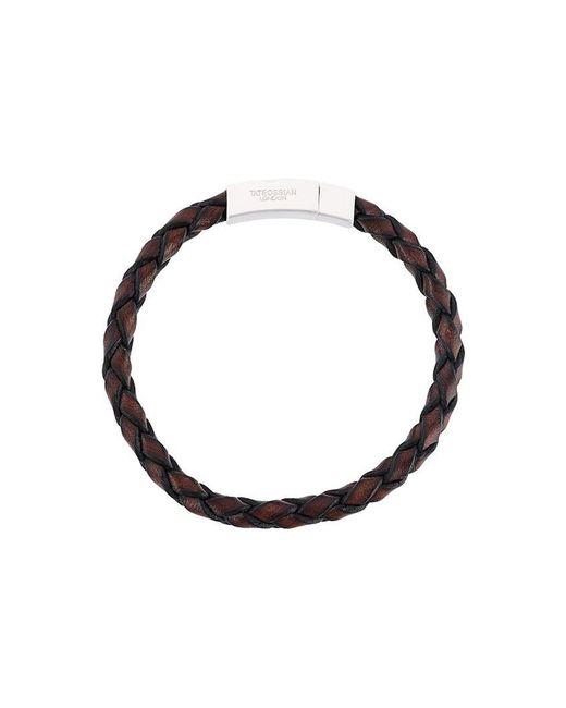 Tateossian - Brown Woven Bracelet for Men - Lyst