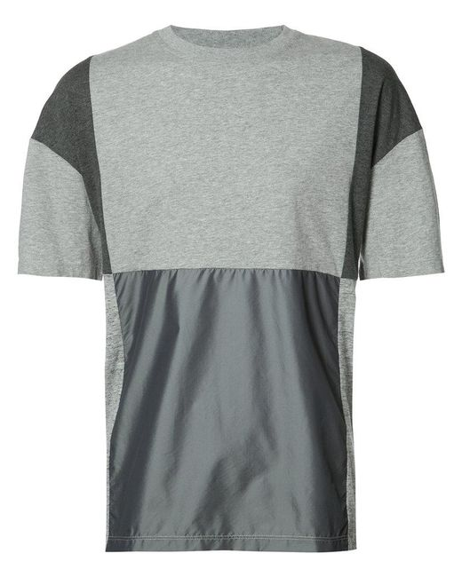 Mostly Heard Rarely Seen - Gray Patchwork T-shirt for Men - Lyst