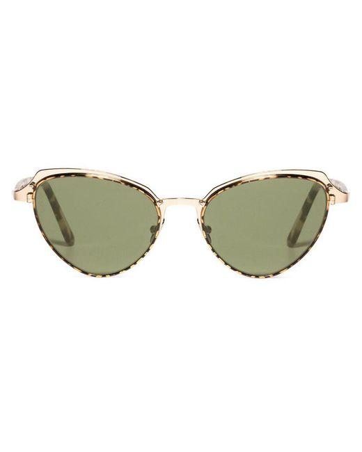 Lgr - Green Monarch 23 Flat Sunglasses - Lyst