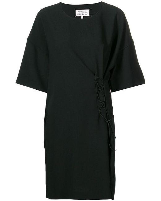 31063f5d85d Maison Margiela - Black Short-sleeve Drawstring Dress - Lyst ...