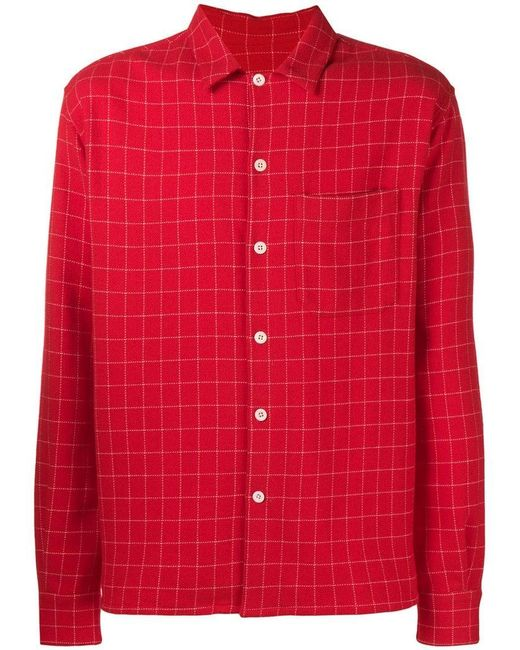 5d662e39a64 AMI - Red Рубашка С Воротником for Men - Lyst ...