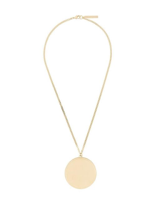 Givenchy - Metallic Circular Pendant Necklace - Lyst