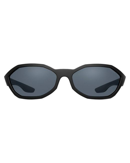 1048c2c108ba Prada - Black Octagon Sunglasses for Men - Lyst ...