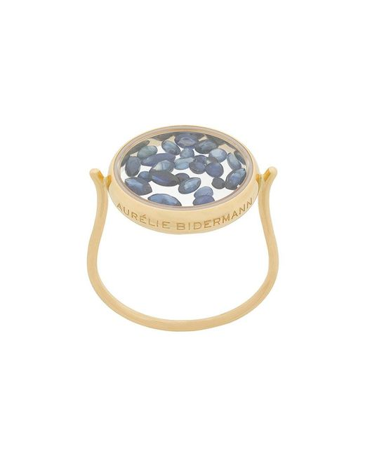 Aurelie Bidermann - Metallic 18kt Yellow Gold Chivoir Sapphire Ring - Lyst
