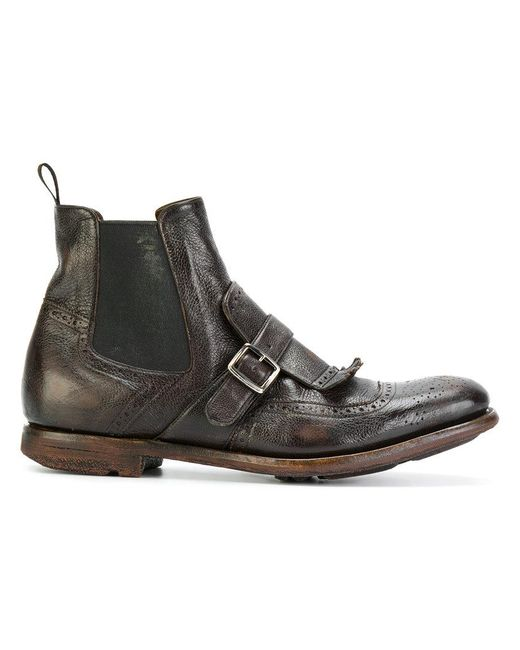 Church's - Brown Monk Boots for Men - Lyst