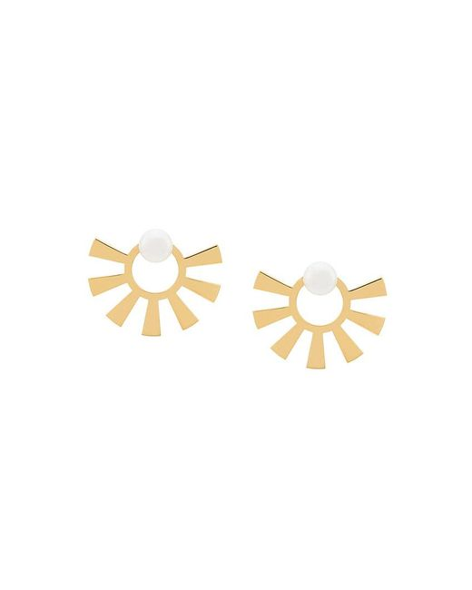 Wouters & Hendrix - Metallic Technofossils Pearl Earrings - Lyst