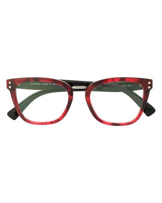 86b2cd6b02 Valentino Eyewear - Red Square-frame Glasses - Lyst ...