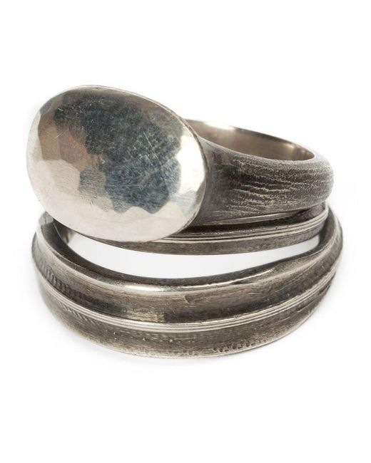 Werkstatt:münchen - Metallic Set Of 2 Rings - Lyst