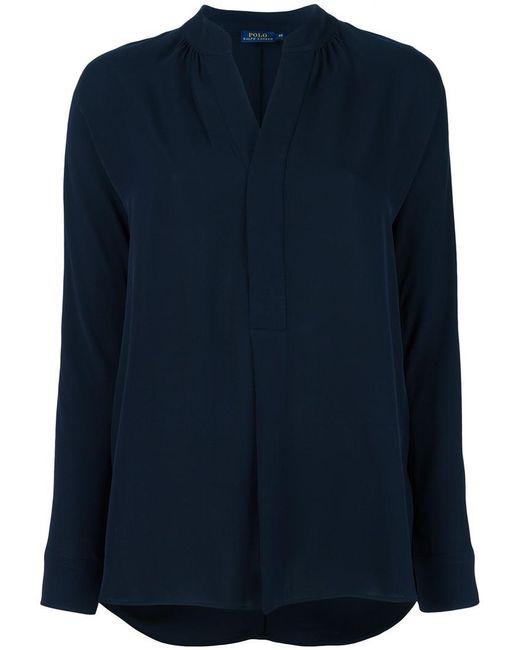 Polo Ralph Lauren   Blue Plain Blouse   Lyst