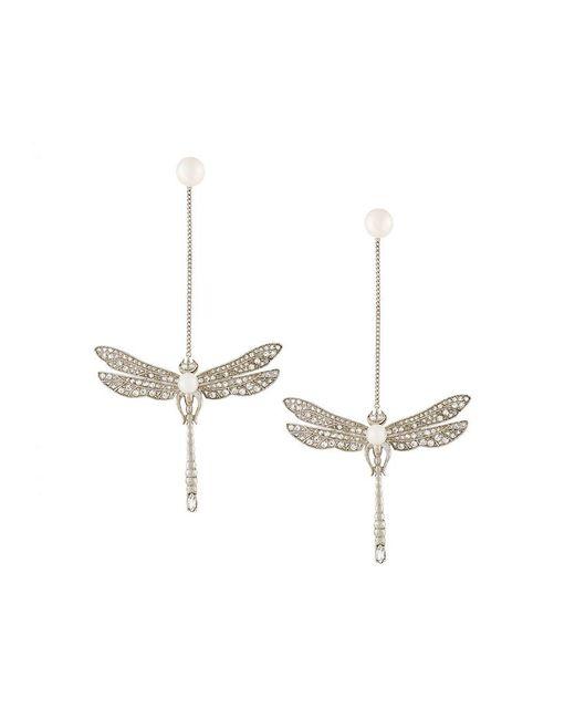 Axenoff Jewellery | Metallic Drop Dragonfly Earrings | Lyst