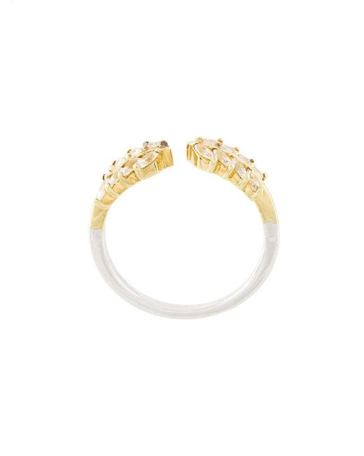 V Jewellery - Yellow Wreath Ring - Lyst