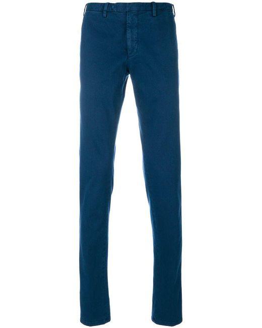 Dell'Oglio - Blue Chino Trousers for Men - Lyst