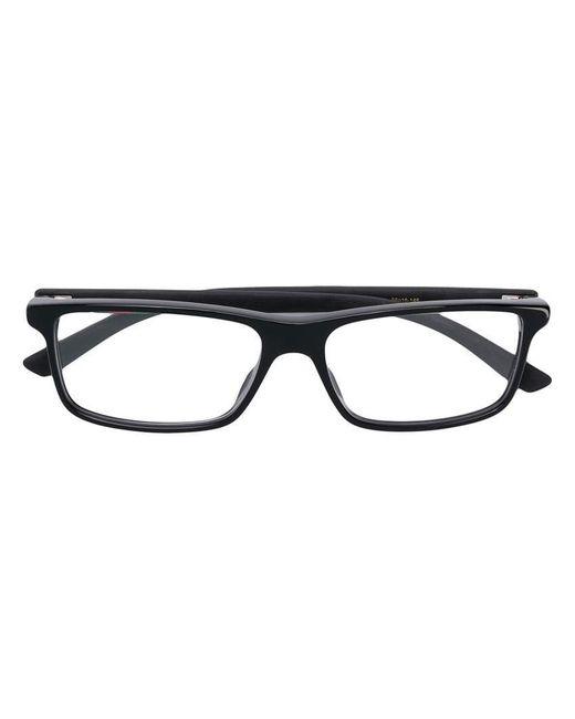 d351b7714a0 Gucci - Black Rectangular Frame Glasses for Men - Lyst ...