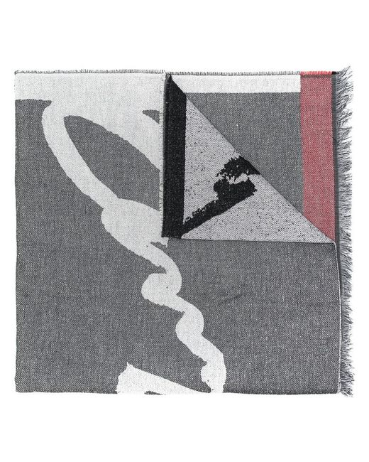 KENZO | Gray Patterned Scarf | Lyst