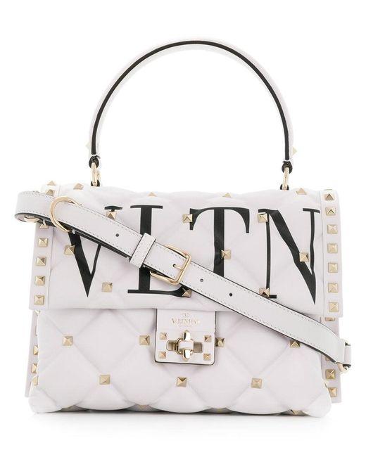 Valentino - White Garavani Vltn Candystud Tote - Lyst
