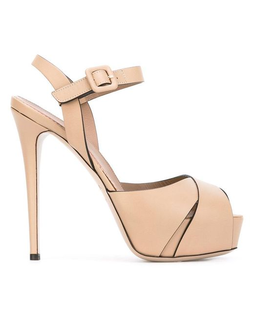 Le Silla - Natural Platform Sandals - Lyst