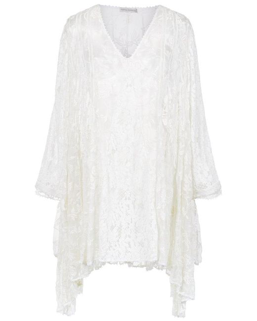 Martha Medeiros - White Embroidered Lace Dress - Lyst