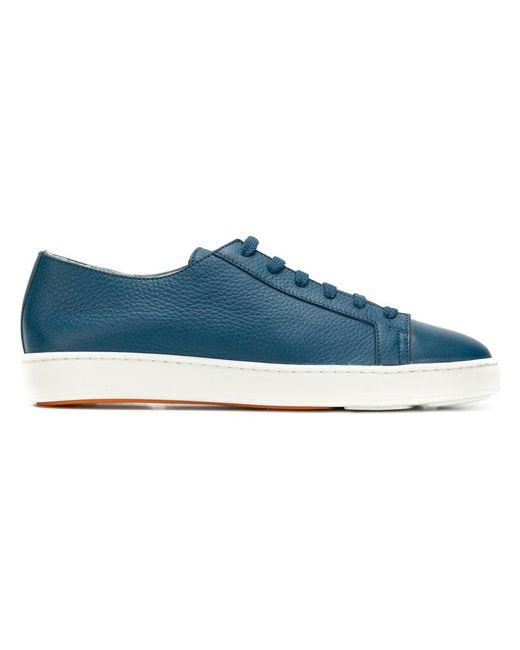 Santoni - Blue Low-top Sneakers for Men - Lyst