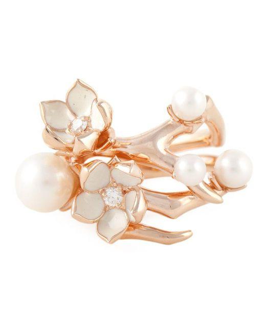 Shaun Leane - Pink 'cherry Blossom' Diamond Ring - Lyst