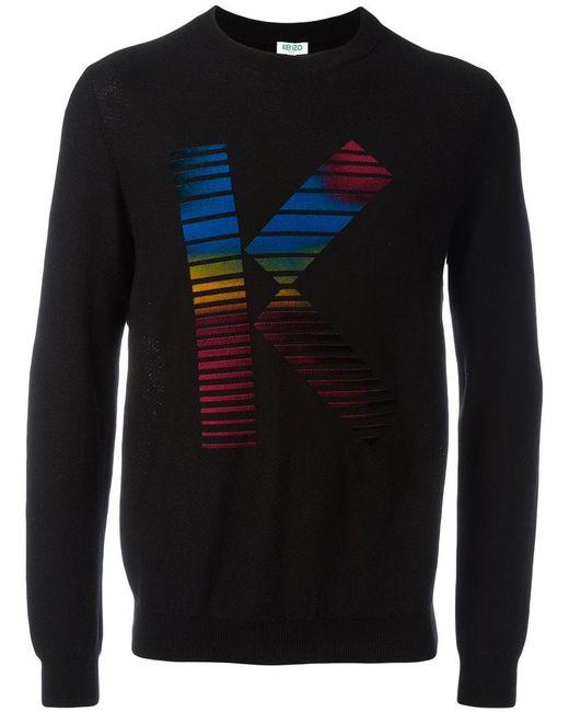 KENZO | Black K Print Sweatshirt for Men | Lyst