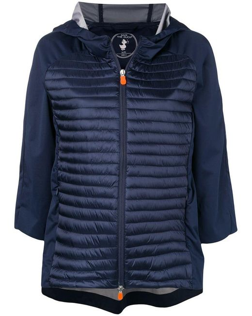 Save The Duck - Blue Hooded Padded Jacket - Lyst