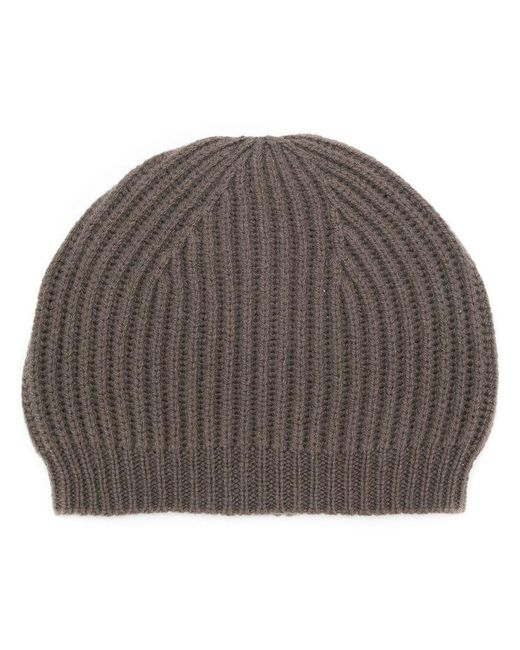 Rick Owens - Gray Fitted Knitted Hat - Lyst