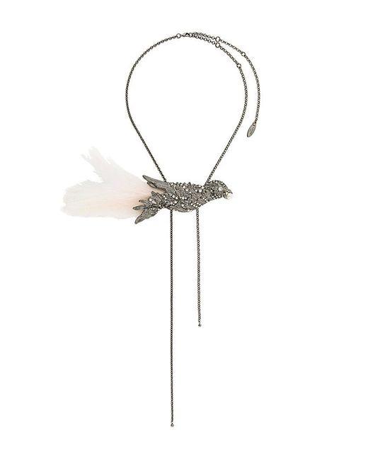 Lanvin | Metallic Embellished Bird Necklace | Lyst