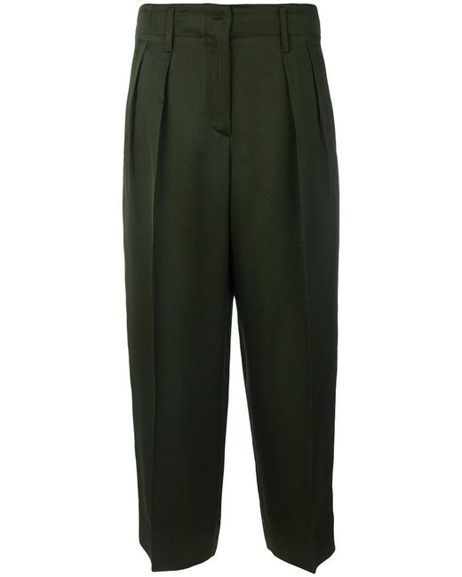 Forte Forte | Green Front Pleat Trousers | Lyst