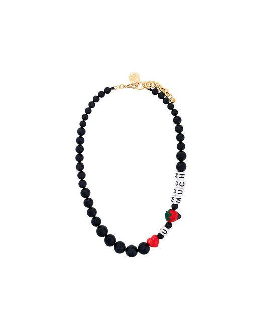 Venessa Arizaga | Black Love U Much Strawberry Beaded Necklace | Lyst