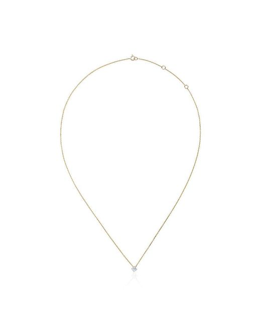 Rosa De La Cruz - Metallic 18k Yellow Gold Single Diamond Necklace - Lyst