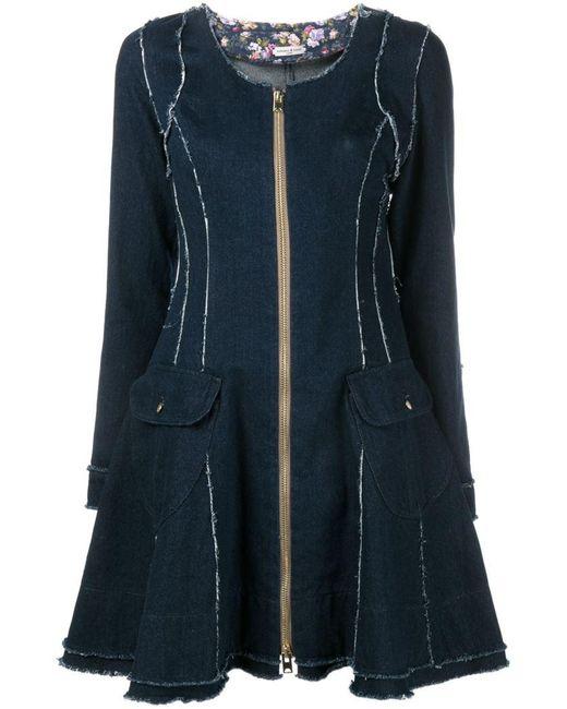 Natasha Zinko | Blue Flared Denim Dress | Lyst