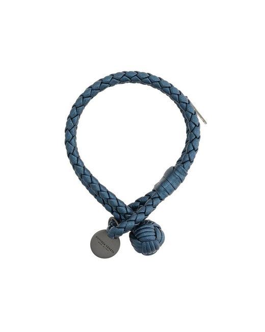 Bottega Veneta - Blue Denim Intrecciato Grosgrain Bracelet - Lyst
