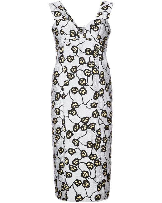 Marni v-neck sheath dress Discount Official nZRuwM