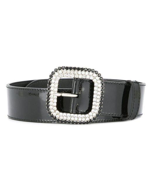 KATE CATE - Black Embellished Buckle Belt - Lyst