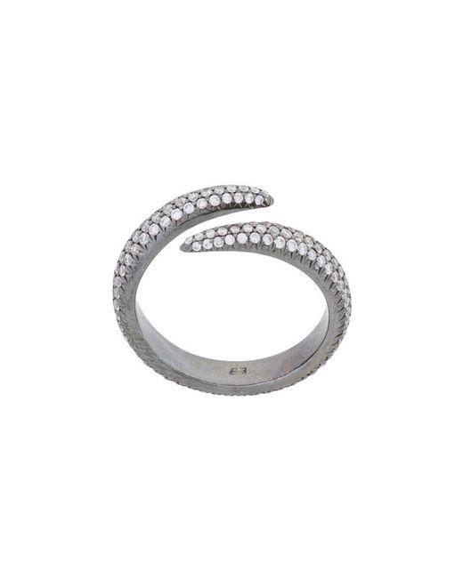 Eva Fehren | Metallic Pave Wrap Claw Ring | Lyst