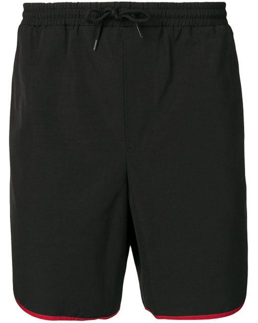 Short de bain à bordures contrastantes Gucci pour homme en coloris Black