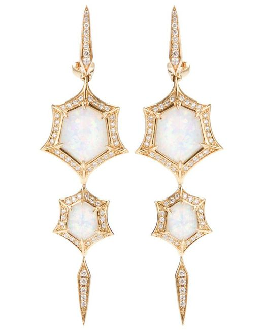Stephen Webster - Yellow 'crystal Haze' Quartz And Diamond Drop Earrings - Lyst