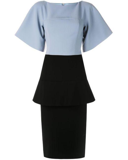 Christian Siriano Blue Formal Peplum Tube Dress