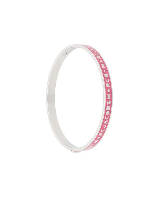 Marc By Marc Jacobs - Pink Logo Bracelet - Lyst