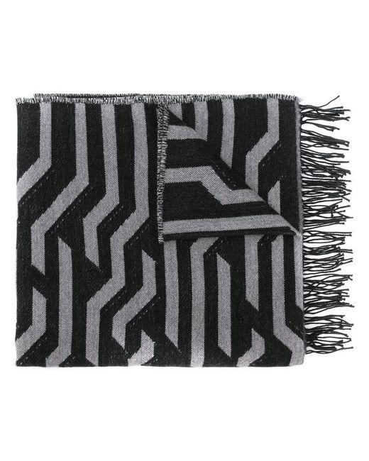 KENZO | Black Striped Scarf | Lyst