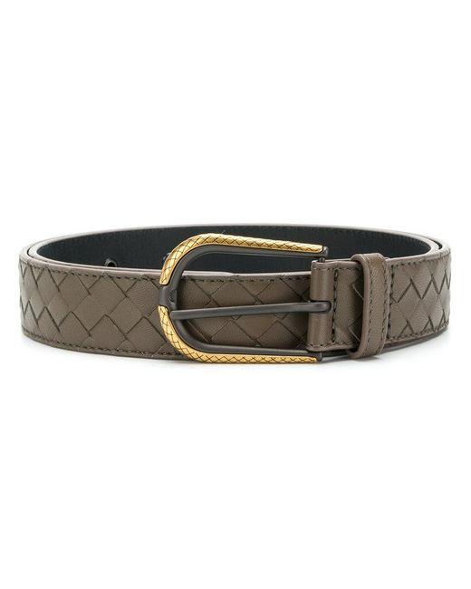Bottega Veneta - Brown Intrecciato Belt - Lyst