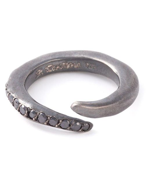 Rosa Maria   Gray Curved Diamond Ring   Lyst