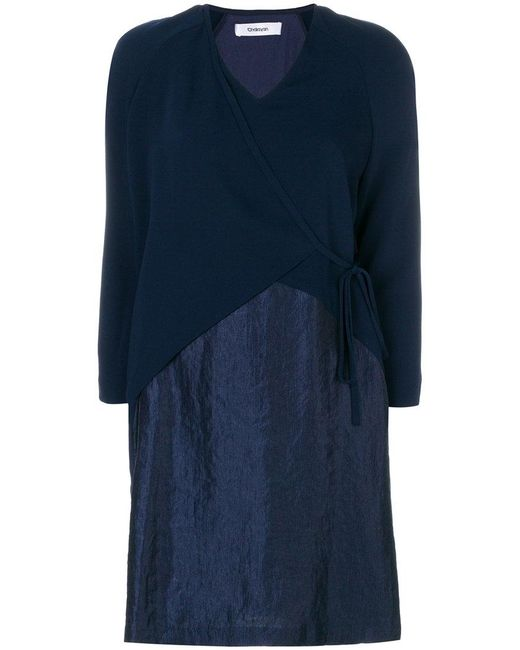 Chalayan | Blue Crossed Short Dress | Lyst