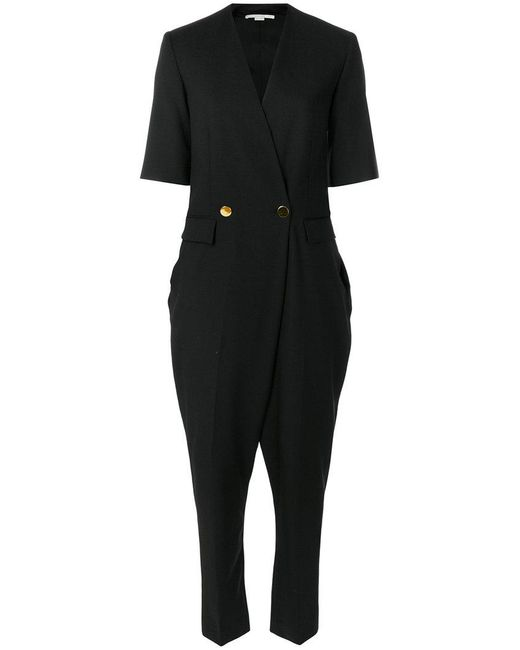 Stella McCartney - Black Double-breasted Jumpsuit - Lyst