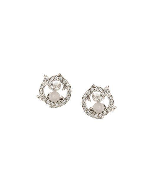 V Jewellery - Metallic Rose Arrings - Lyst