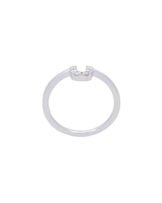Alison Lou - Metallic U Diamond Stack Ring - Lyst