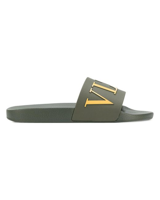 Valentino - Green Garavani Vltn Slides for Men - Lyst