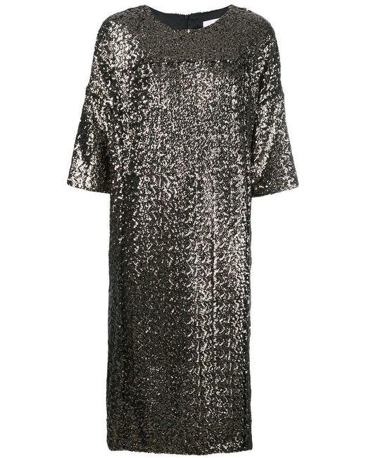A.F.Vandevorst - Metallic Sequin T-shirt Dress - Lyst